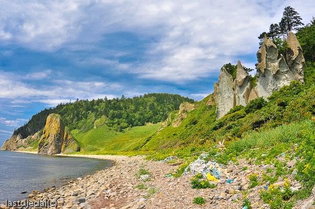 побережье недалеко от Столбчатого